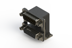 663-015-364-059 - Right-angle Dual Port D-Sub Connector