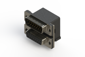 663-015-664-001 - Right-angle Dual Port D-Sub Connector