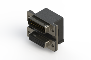 663-015-664-007 - Right-angle Dual Port D-Sub Connector