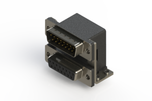 663-015-664-057 - Right-angle Dual Port D-Sub Connector