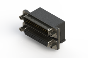 663-025-264-003 - Right-angle Dual Port D-Sub Connector