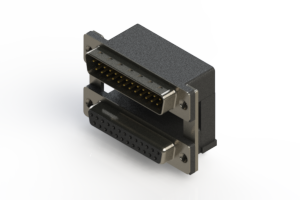 663-025-264-008 - Right-angle Dual Port D-Sub Connector