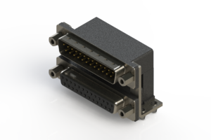 663-025-264-046 - Right-angle Dual Port D-Sub Connector