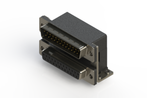 663-025-264-057 - Right-angle Dual Port D-Sub Connector