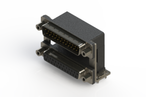 663-025-364-039 - Right-angle Dual Port D-Sub Connector