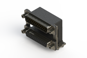 663-025-364-049 - Right-angle Dual Port D-Sub Connector