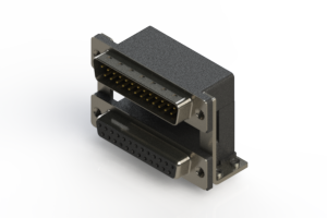 663-025-364-058 - Right-angle Dual Port D-Sub Connector