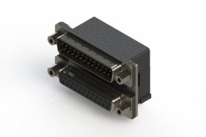 663-025-664-006 - Right-angle Dual Port D-Sub Connector