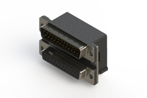 663-025-664-007 - Right-angle Dual Port D-Sub Connector
