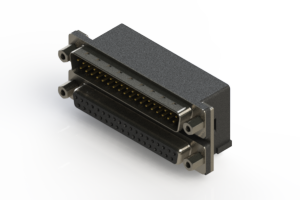 663-037-264-003 - Right-angle Dual Port D-Sub Connector
