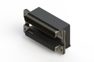 663-037-264-006 - Right-angle Dual Port D-Sub Connector