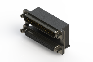 663-037-264-009 - Right-angle Dual Port D-Sub Connector