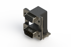 664-009-264-038 - Right-angle Dual Port D-Sub Connector