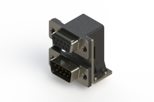 664-009-364-055 - Right-angle Dual Port D-Sub Connector