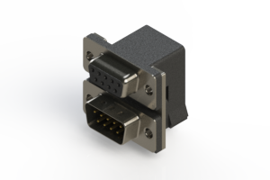664-009-664-004 - Right-angle Dual Port D-Sub Connector