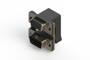 664-009-664-005 - Right-angle Dual Port D-Sub Connector