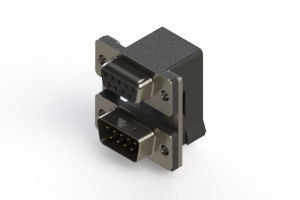 664-009-664-007 - Right-angle Dual Port D-Sub Connector