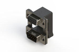 664-009-664-008 - Right-angle Dual Port D-Sub Connector