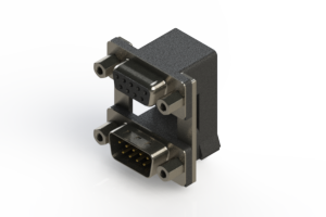 664-009-664-009 - Right-angle Dual Port D-Sub Connector