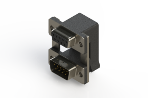 664-009-664-00A - Right-angle Dual Port D-Sub Connector