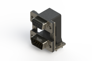 664-009-664-030 - Right-angle Dual Port D-Sub Connector