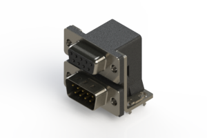 664-009-664-034 - Right-angle Dual Port D-Sub Connector