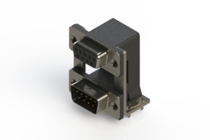 664-009-664-038 - Right-angle Dual Port D-Sub Connector