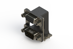 664-009-664-039 - Right-angle Dual Port D-Sub Connector