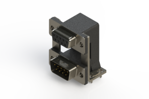 664-009-664-03A - Right-angle Dual Port D-Sub Connector