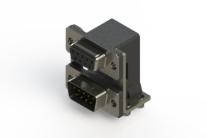 664-009-664-047 - Right-angle Dual Port D-Sub Connector
