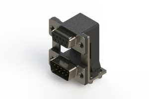 664-009-664-048 - Right-angle Dual Port D-Sub Connector