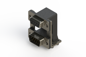 664-009-664-04C - Right-angle Dual Port D-Sub Connector