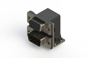 664-009-664-054 - Right-angle Dual Port D-Sub Connector