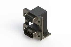 664-009-664-058 - Right-angle Dual Port D-Sub Connector