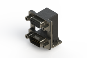 664-009-664-059 - Right-angle Dual Port D-Sub Connector