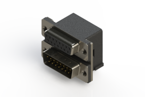 664-015-264-002 - Right-angle Dual Port D-Sub Connector