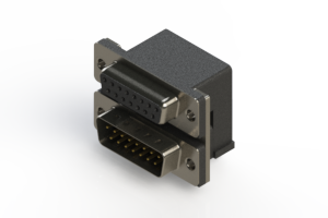 664-015-264-004 - Right-angle Dual Port D-Sub Connector