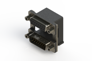 664-015-264-009 - Right-angle Dual Port D-Sub Connector