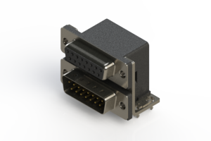 664-015-264-034 - Right-angle Dual Port D-Sub Connector