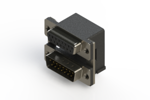 664-015-364-005 - Right-angle Dual Port D-Sub Connector
