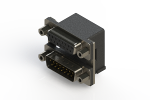 664-015-364-006 - Right-angle Dual Port D-Sub Connector