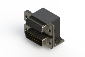 664-015-664-051 - Right-angle Dual Port D-Sub Connector