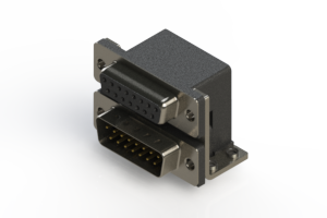 664-015-664-054 - Right-angle Dual Port D-Sub Connector