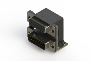 664-015-664-055 - Right-angle Dual Port D-Sub Connector