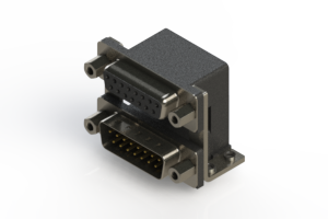 664-015-664-056 - Right-angle Dual Port D-Sub Connector