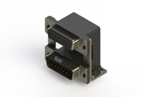 664-015-664-058 - Right-angle Dual Port D-Sub Connector