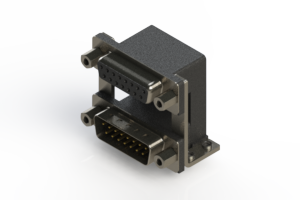 664-015-664-059 - Right-angle Dual Port D-Sub Connector