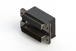 664-025-364-005 - Right-angle Dual Port D-Sub Connector