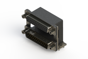 664-025-364-039 - Right-angle Dual Port D-Sub Connector