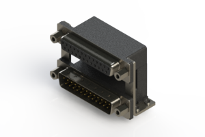 664-025-364-059 - Right-angle Dual Port D-Sub Connector